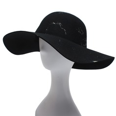 Señoras' Maravilloso/Moda Madera Disquete Sombrero