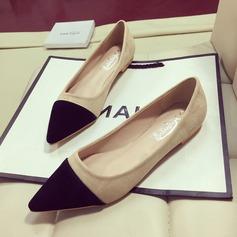 Femmes Suède Talon plat Chaussures plates Bout fermé avec Semelle chaussures