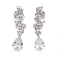 Unique Zircon Ladies' Earrings