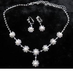 Bonito Prateado Senhoras Conjuntos de jóias