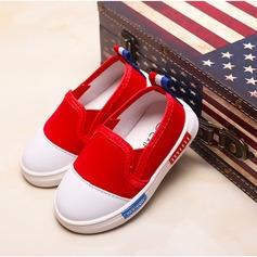 Fille de Bout fermé Toile Toile talon plat Chaussures plates Sneakers & Athletic