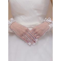 Stoff Handgelenk Länge Braut Handschuhe