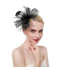 Sonar Naisten Loistokkaat/Classic/Tyylikäs Feather/Netto lanka jossa Feather Koristeet/Kentucky Derbyn hatut
