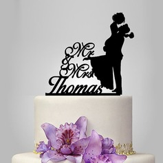 Personalized Classic Couple Acrylic Cake Topper (119119784)