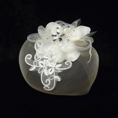 Elegant Net Yarn/Tulle Fascinators With Rhinestone/Venetian Pearl