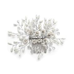 Damer Vakkert Crystal/Rhinestone/Imitert Perle Kammer og Barrettes med Rhinestone/Venetianske Perle/Crystal (Selges i ett stykke)