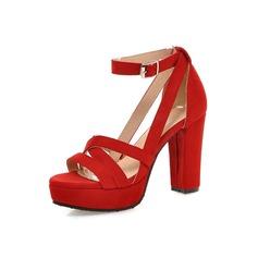 De mujer Ante Tacón ancho Plataforma zapatos