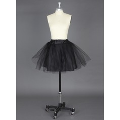 Women Nylon/Tulle Netting Short-length 2 Tiers Petticoats
