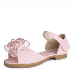 Fille de À bout ouvert Cuir en microfibre Sandales Chaussures de fille de fleur avec Bowknot