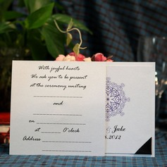 Personlig Hjärta stil Wrap & Pocket Invitation Cards (Sats om 50)