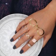 Vackra Och Legering Damer' Mode Ringar (Sats om 5)