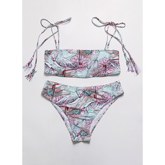 Sexig Färgglada polyester Bikinier Tankinis (Sats om 2 st) Baddräkt
