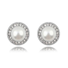 Classic Alloy/Pearl With Rhinestone Ladies' Earrings (011036384)