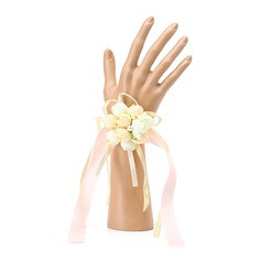 Hand-tied Silk Wrist Corsage (Sold in a single piece) -
