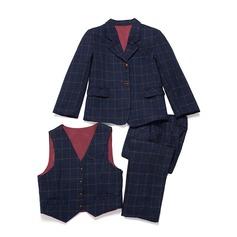 Ragazzi 3 pezzi Tartan Abiti per Paggetti /Page Boy Suits con Giacca ovest Pantaloni (287199752)