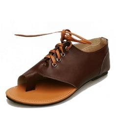 Donna PU Senza tacco Sandalo Ballerine scarpe