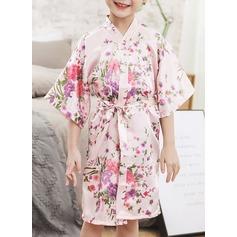 Non-spersonalizowane szarmeza Flower Girl Kwiatowe szaty