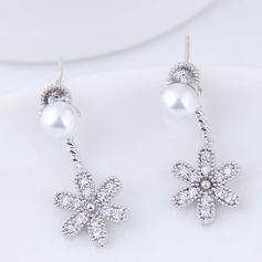 Lysande Fauxen Pärla Zirkon koppar med Zirkon Kvinnor Mode örhängen