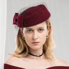 Dames Spécial/Romantique Coton avec Tulle Béret Chapeau/Chapeaux Tea Party