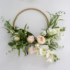 Charming Round Silk Flower/Plastic/Silk linen Bridal Bouquets/Decorations -