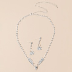 Charming Alloy/Rhinestones Ladies' Jewelry Sets