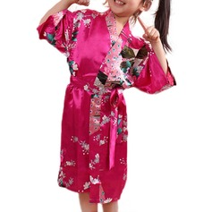 Polyester Flower Girl Floral Robes (248149873)