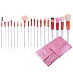 Bolsa Cepillos profesionales del maquillaje rosa (20 piezas) (046024402)
