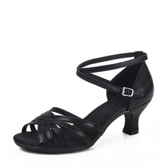 Women's Leatherette Latin Dance Shoes (053130668)