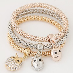 Charmant Alliage Strass avec Strass Dames Bracelets de mode