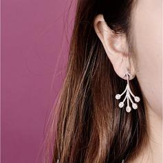 Stylish Zircon Copper With Zircon Women's Fashion Earrings (Sold in a single piece)
