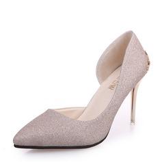 Kvinder Mousserende Glitter Stiletto Hæl Pumps Lukket Tå sko