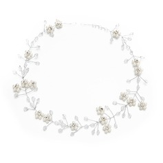 Damer Klassisk stil Kristall/Strass/Fauxen Pärla Pannband med Strass/Venetianska Pärla/Kristall (Säljs i ett enda stycke)