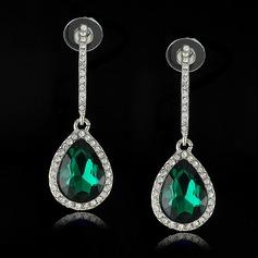 Sjarm Legering/Crystal med Rhinestone Damene ' øredobber