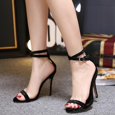 De mujer Tacón stilettos Sandalias Encaje zapatos