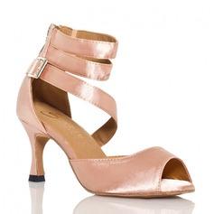 Женщины Атлас На каблуках Сандалии На каблуках Латино Обувь для танцев