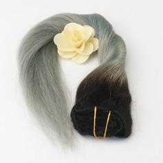 4A Ej remy Rakt människohår Klämma i hårförlängningar (Säljs i ett enda stycke) 100g
