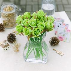 Simples e elegante Cetim Decorações/Flores da Tabela do Casamento