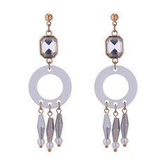 Chic Alloy Imitation Pearls Glass With Imitation Pearl Women's Fashion Earrings
