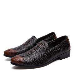 Homens Couro Penny Loafer Casual Sapatos De Vestido Mocassins Masculinos