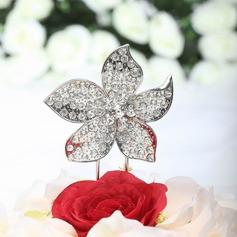 Flower Shaped Chrome Wedding Cake Topper