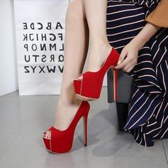 Femmes Suède Talon stiletto Escarpins Plateforme À bout ouvert avec Autres chaussures