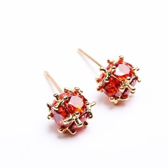 Beautiful Zircon/Champaign Gold Plated Ladies' Earrings