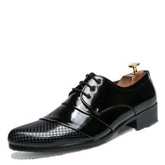Hommes Cuir Verni Dentelle Chaussures habillées Chaussures Oxford pour hommes