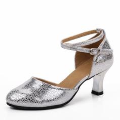 Mulheres Couro verdadeiro Saltos Latino Sapatos de dança
