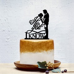 Klassisk stil/Love Is Sweet Akryl Kake Topper