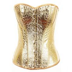 Bronzage Sans bretelle Dentelle/Fermeture avant corselette Corsets