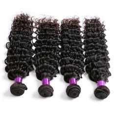 4A Profond les cheveux humains Tissage en cheveux humains (Vendu en une seule pièce)