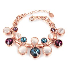 Fashional Czech Stones/Rose Gold Plated Ladies' Bracelets