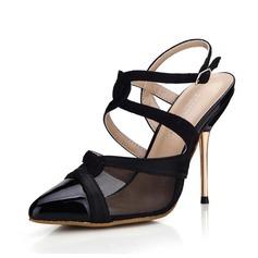 Mulheres Camurça Couro Salto agulha Bombas Fechados Sapatos abertos sapatos