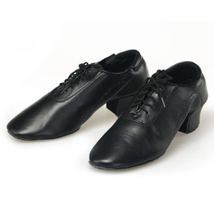 Men's Leatherette Pumps Sneakers Practice With Lace-up Dance Shoes